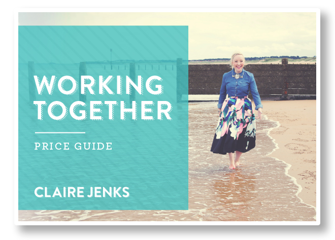 Claire Jenks Design_Price Guide