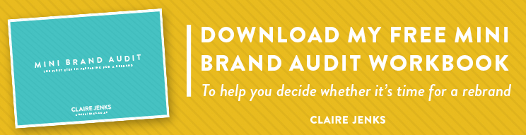 Rebranding: Download my free mini brand audit workbook