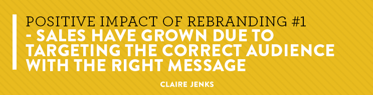 What is the impact of rebranding vs not rebranding?- by Claire Jenks Graphic Design-