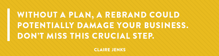 Rebranding- Can a rebrand damage my business?-secondary-Claire Jenks Design