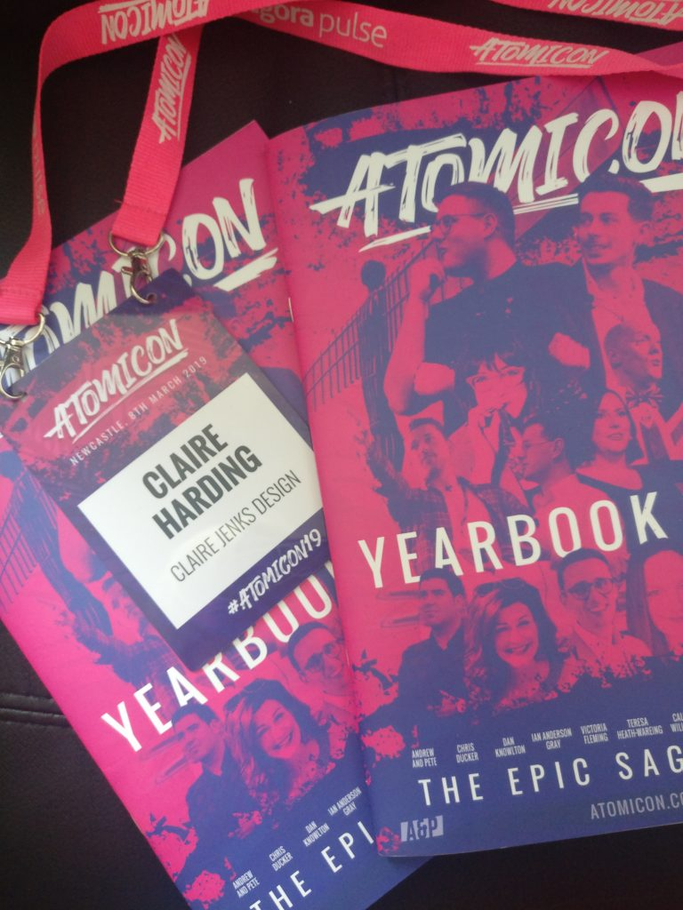 Atomicon19 Yearbooks by Claire Jenks Design