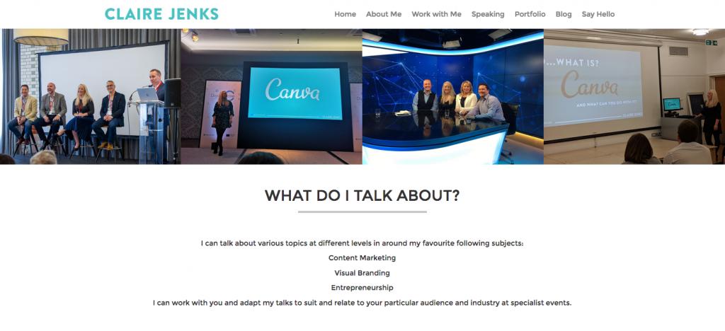 Claire Jenks Design - Speaking